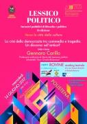 """Gennaro Carillo: """"La crisi della democrazia tra commedia e tragedia. Un discorso sull'antico?"""""""