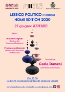 """Lessico Politico IV: atto III """"Abitare"""". Sabato 27/06 con Carla Danani"""