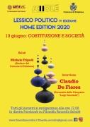 """Lessico Politico IV: atto I """"Costituzione e Società"""". Sabato 13/06 con Claudio De Fiores"""