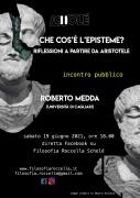 Che cos'è l'episteme? Incontro pubblico con Roberto Medda (Cagliari) il 19/06 in diretta FB