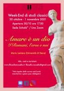 WE di studi classici 30/10 - 1/11 con Mario Lentano (Siena)